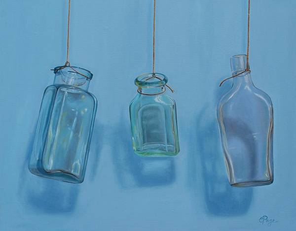 Hanging Bottles Art Print