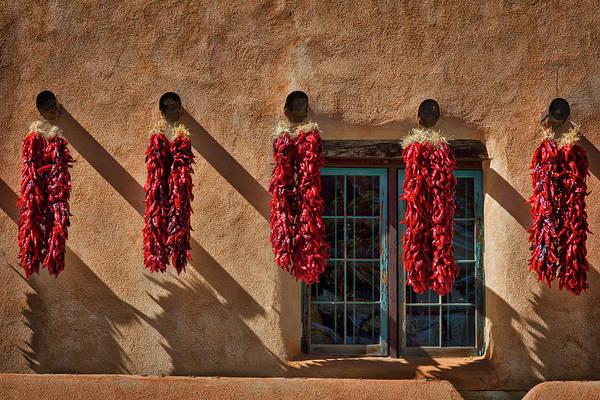 Hanging Chili Ristras - Taos Art Print