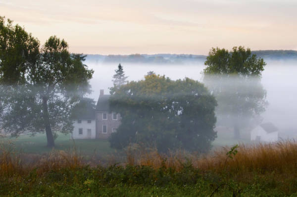 Wall Art - Photograph - Hanging Fog In Valley Forge Pa by Bill Cannon