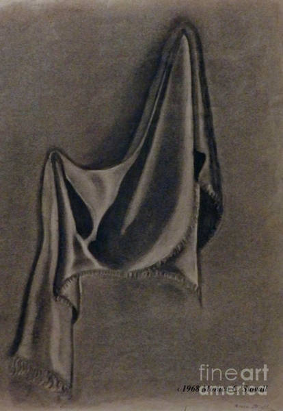 Drawing - Hanging Fringed Cloth by Monica C Stovall