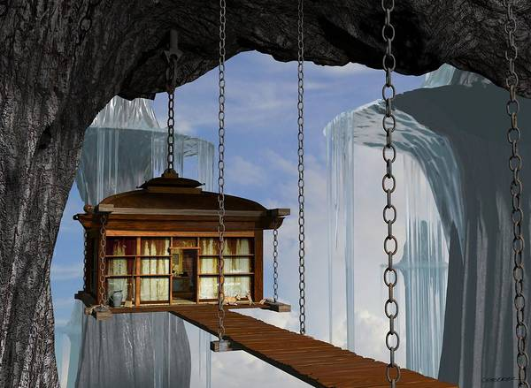 Wall Art - Digital Art - Hanging House by Cynthia Decker