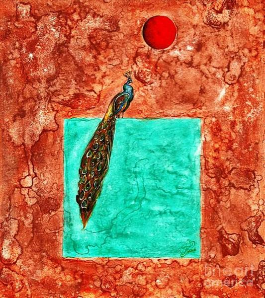 Painting - Peacock by Qasir Z Khan