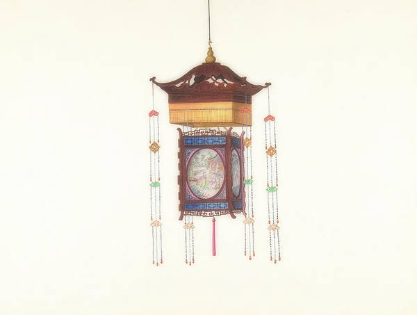 Wall Art - Painting - Hanging Lantern by Chinese Artist