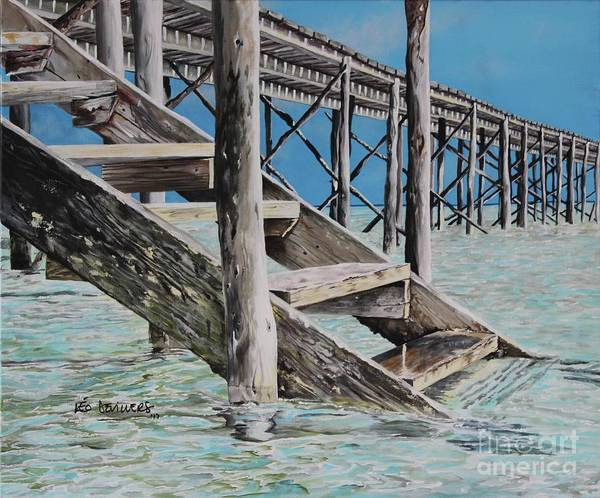 Baltic Sea Painting - Hanging Out At Cherokee Long Dock by Leo Devillers