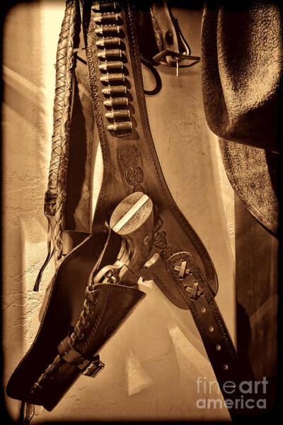 Photograph - Hanging Revolver by American West Legend By Olivier Le Queinec
