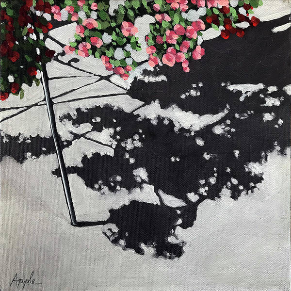 Wall Art - Painting - Hanging Shadows - Floral by Linda Apple