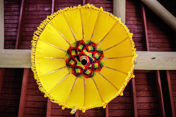 Photograph - Hanging Umbrella by Chris Coffee
