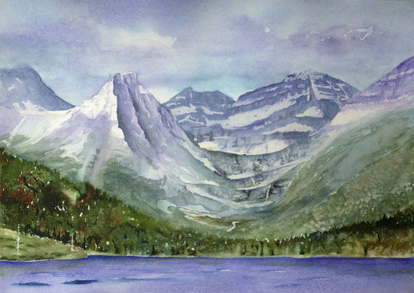 Painting - Hanging Valleys - Glacier National Park by Marsha Karle