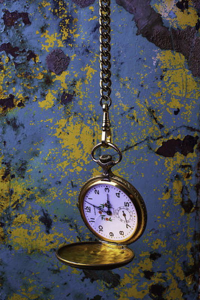 Rusty Chain Photograph - Hanging Watch by Garry Gay