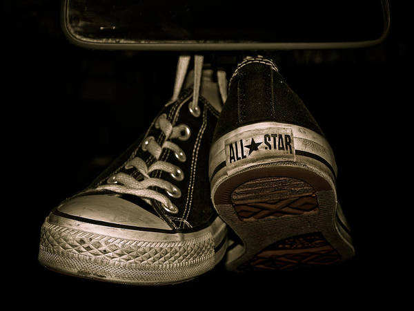 9dd23d1641a5 Converse All Star Wall Art - Photograph - Hanging With Chuck by Valerie  Morrison