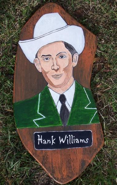 Mojo Painting - Hank Williams Sr. by Mojo Goat