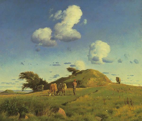 Painting - Hankehoj by Johan Thomas Lundbye