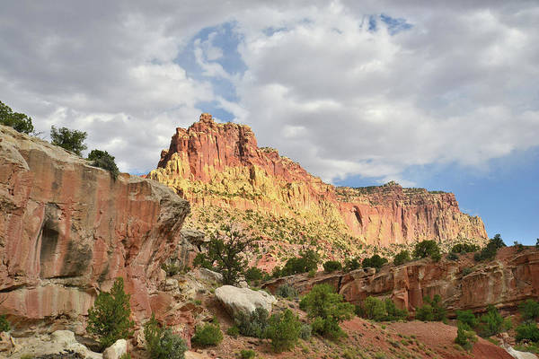 Photograph - Hanks Butte In Capitol Reef by Ray Mathis