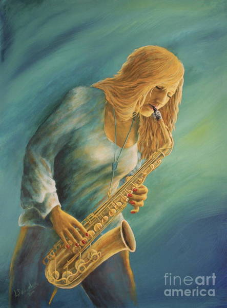 Sax Painting - Hanna by Larry Daeumler