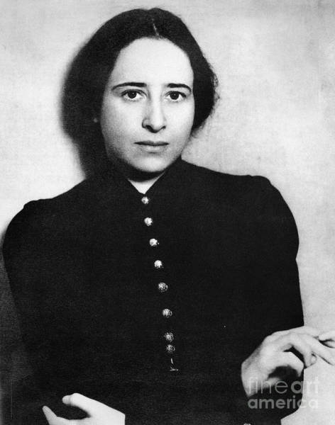 Immigrant Photograph - Hannah Arendt (1906-1975) by Granger