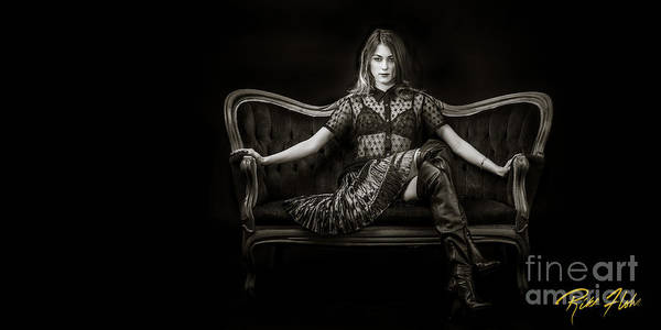 Photograph - Hannah Seated by Rikk Flohr