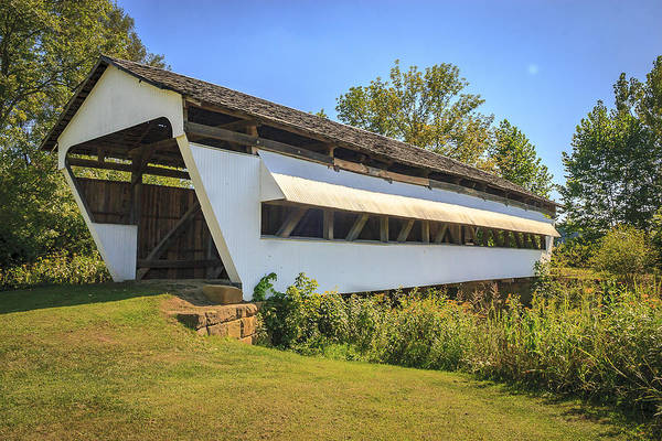 Photograph - Hannaway Covered Bridge by Jack R Perry