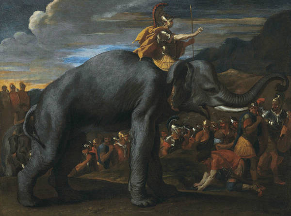 Painting - Hannibal Crossing The Alps On Elephants by Nicolas Poussin