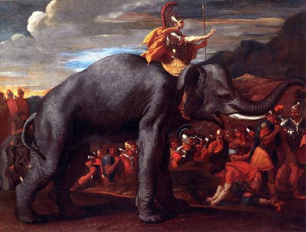 Painting - Hannibal Crossing The Alps by Troy Caperton