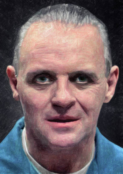 Serial Killer Painting - Hannibal Lecter by Zapista Zapista