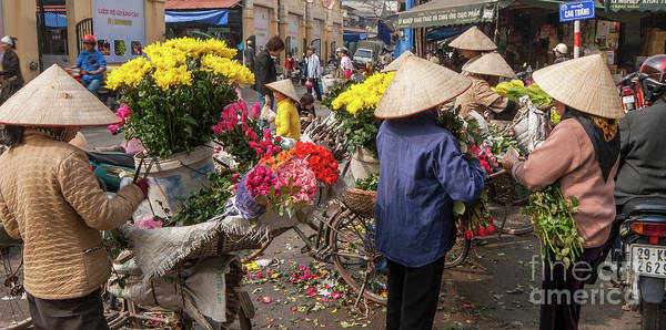 Photograph - Hanoi Flowers 05  by Rick Piper Photography