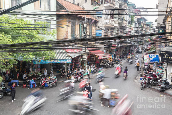 Photograph - Hanoi Old Quarter Rush by Didier Marti