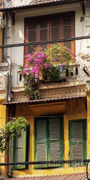 Photograph - Hanoi Shophouse Windows 01   by Rick Piper Photography