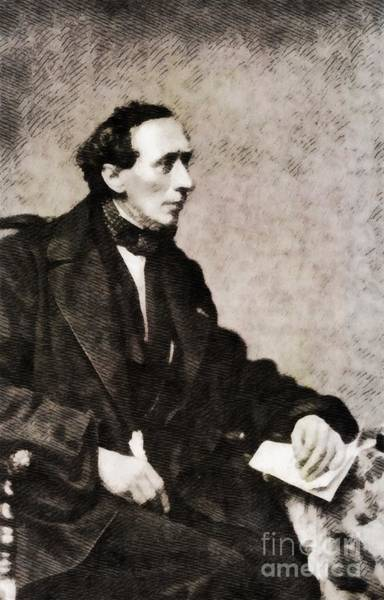 Poetry Painting - Hans Christian Andersen, Literary Legend by John Springfield