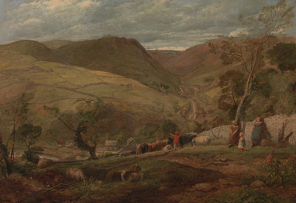Painting - Hanson Toot, View In Dovedale by John Linnell