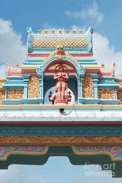 Yogic Wall Art - Photograph - Hanuman Archway Puttaparthi by Tim Gainey