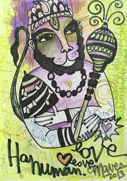 Painting - Hanuman Love by Laurie Maves ART