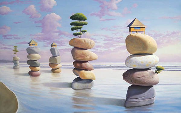 Idealism Wall Art - Painting - Happiness By Design by Paul Bond