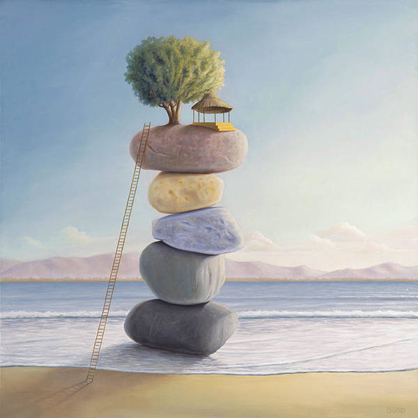 Stone Wall Art - Painting - Happiness In Perpetuity by Paul Bond