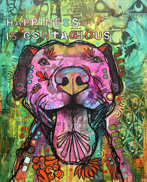 Painting - Happiness Is Contagious by Dean Russo Art