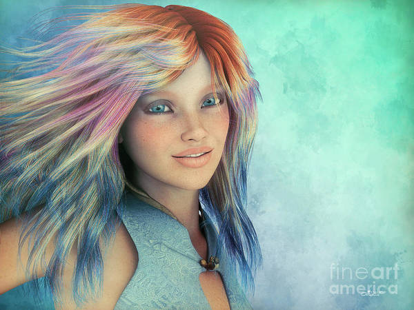 Digital Art - Happiness by Jutta Maria Pusl