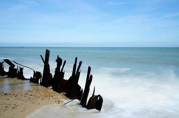 Wall Art - Photograph - Happisburgh Beach by Liz Pinchen