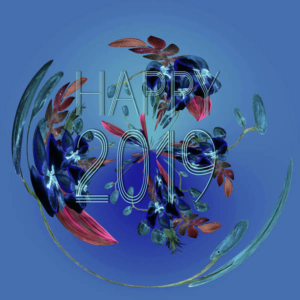 Digital Art - Happy 2019a by Ericamaxine Price
