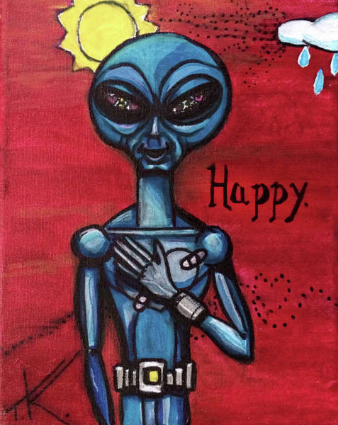 Painting - Happy Alien by Similar Alien