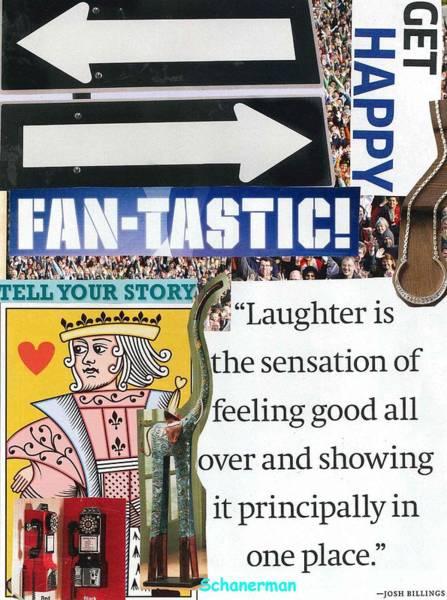 Mixed Media - Happy All Around by Susan Schanerman