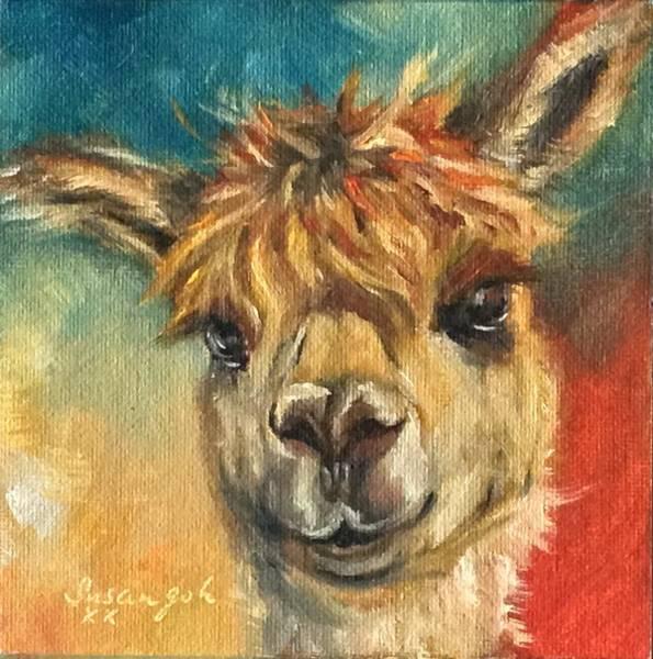 Alpaca Painting - Happy Alpaca by Susan Goh