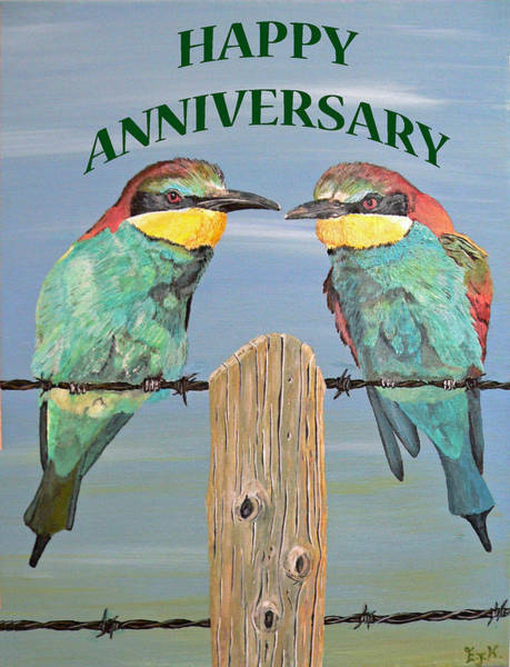 Painting - Happy Anniversary by Eric Kempson