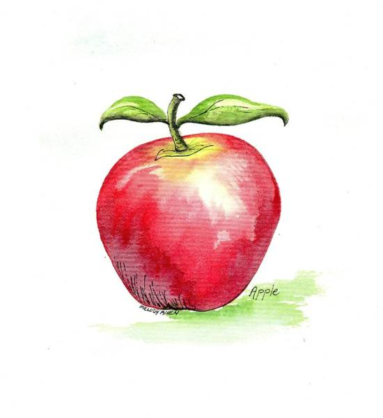 Wall Art - Painting - Happy Apple by Melody Allen