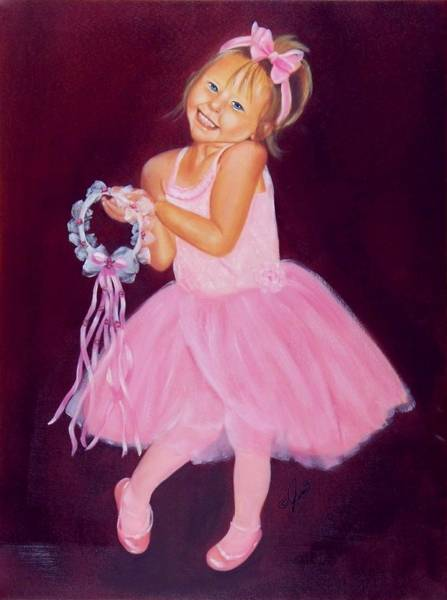 Happy Ballerina Art Print
