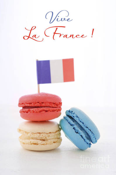 Vive La France Wall Art - Photograph - Happy Bastille Day Party Macarons by Milleflore Images