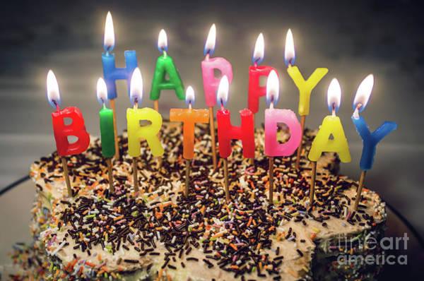 Wall Art - Photograph - Happy Birthday Candles by Carlos Caetano