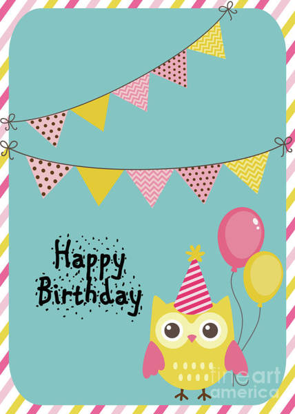 Photograph - Happy Birthday Owl by Pam  Holdsworth