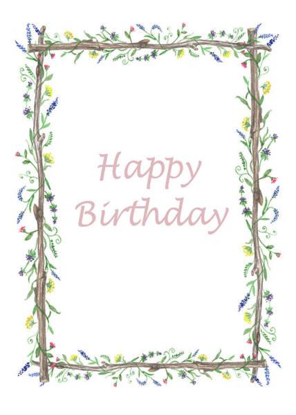 Painting - Happy Birthday Wild Flowers  by Irina Sztukowski