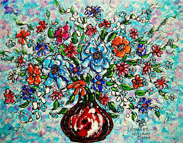 Wall Art - Painting - Happy Bouquet by Leonard Holland