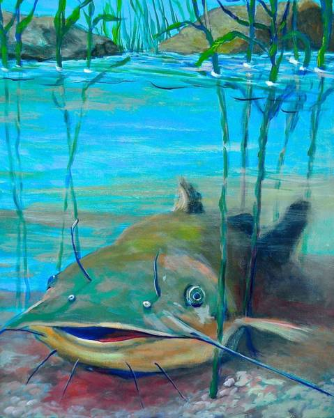 Painting - Happy Catfish by Jeanette Jarmon