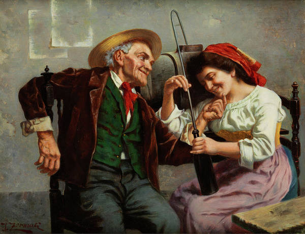 Rural Wall Art - Painting - Happy Couple by Jules Zermati